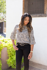 www.trulyterah.com (terahlakephotography) Tags: cheetahprint animalprint cuteblouse workwear casualwear whattowearnow whattowear chicstyle casuallook chicwish cutebelt cuteheels hm