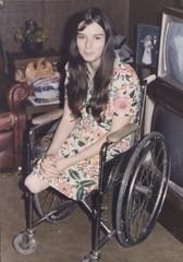 120-02 BK/AK 1960s amputee lady (jackcast2015) Tags: amputee legamputee wheelchairwoman wheelchair disabledwoman crippledwoman amputeewoman nolegs belowkneeabovekneedoubleamputeeamputee bkakamputee