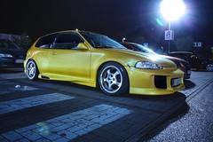 Honda Civic Hatch (danielleuschner1) Tags: honda civic tuning hatch jdm dresden germany car cars carros nightshot night longexposure auto