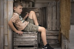Time Out For Lewis (aevo69) Tags: child photography portrait family life western cowboy infant yound children lewis andy evans andyevanscreations