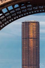 The Montparnasse & Eiffel Towers (Julien CHARLES photography) Tags: eiffel eiffeltower europe france observationdeck paris tour toureiffel bestviewofparis sunset sunsetlight sunsettime tourmontparnasse tower view