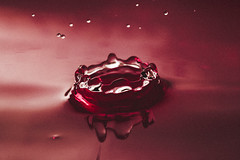 openheart (thedjchillwill) Tags: water droplet red abstract motion creative film explore