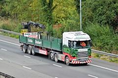 Eddie Stobart 'Carole Ann' (stavioni) Tags: carole ann mol mechanical off load brick h2566 po66ufw scania r450 esl eddie stobart truck trailer lorry