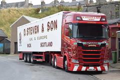 SK18LVM  D Steven & Son, Wick (highlandreiver) Tags: sv18lvm sv18 lvm d steven and son wick caithness scania truck lorry haulage transport scrabster bellshill aberdeen