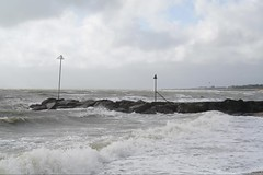 Storm Ali - Hyperlapse Solent clip (fstop186) Tags: stormali solent hyperlapse sea windsurfers walkers rough water beach whitehorses hampshire portsmouth leeonthesolent