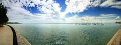 lake Constance (Hagnau, Germany) (Veitinger) Tags: lake see bodensee lakeconstance wasser water wolken clouds landschaft landscape deitschland germany badenwürttemberg sony tamron tamron16300 withmytamron panorama hagnau boote boats ufer blue blau stitch