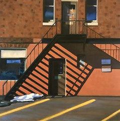 Winter Shadows (Jennymac067) Tags: madison new jersey jennifer malone oil painting art original structure shadow brick building