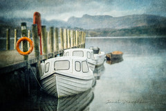 On The Water (Janet_Broughton) Tags: lensbaby velvet85 textures landscape water lake flypapertextures