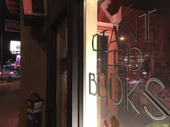Spokane- Giant Nerd Book Store (Lynn Friedman) Tags: giantnerdbooks bookstore spokane washington usa window exterior sign night
