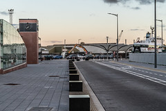 THE REFURBISHED KENT RAILWAY STATION AND NEARBY [PHOTOGRAPHED AT SUNSET IN SEPTEMBER 2018]-144412 (infomatique) Tags: thomaskent trainstation memorial glanmireroadstation hogansquay transport publictransport busservice bikehire williammurphy sunset sony a7riii streetphotograpgy irishrail cie