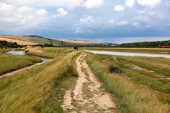 Cuckmere Haven (iwys) Tags: cuckmere haven sussex footpath south downs water clouds