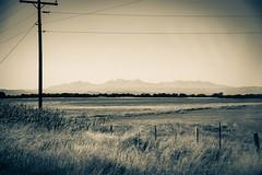 Highway 97 near Naturita, Colorado (BeerAndLoathing) Tags: ouraytrip autumn october lonely sepia mountains blackwhite vintage canon fall 2017 roadtrip monochrome 77d colorado outdoors bw vignette usa trips blackandwhite canoneos77d