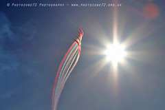0904 Enid smoke and sun (photozone72) Tags: jersey airshows aircraft airshow aviation canon canon80d 80d 24105mmf4l canon24105f4l raf rafat redarrows reds redwhiteblue
