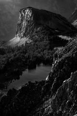 Rays on the Rock (Trevan Hiersche) Tags: montana wyoming beartoothpass twinlakes mountains wild wilderness explore evening blackandwhite landscape