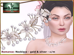 Bliensen - Romance - necklace (Plurabelle Laszlo of Bliensen + MaiTai) Tags: wedding marriage jewelry necklace earrings hairaccessories hairpin floral bride bridal secondlife sl bliensen tts thetrunkshow