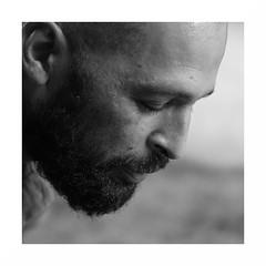 """""""Cédric"""" (The Blue Water Lily's Company) Tags: fdrouet nb bw monochrome monochrom portrait retrato homme man carré square nikon d90"""