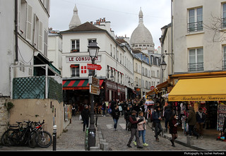 View along Rue Norvins, Montmatre, Paris, France