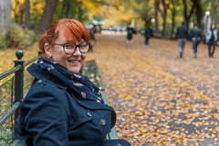 Trip to NYC - October 2017 (db | photographer) Tags: 2017 adobelightroom57 amerique ameriquedunord arbres banc bancs bench benches blur bokeh bottura botturadamien d80 damienbottura deepoffield discovertheworld dof echarpe etatsunis etatsunisdamerique exploretheworld flickrtravelaward flou girlfriend glasses lunettes manhattan newyork newyorkcity nikond80 northamerica ny nyc october2017 octobre2017 orange pdc portrait profondeurdechamp red redhead rousse scarf smile sourire street streetphoto streetphotography streetshot tamron1750mm tamronspaf1750mmf28xrdi travel traveltoamerica traveltonewyork traveltonyc trees trench triptonewyork triptonewyorkcity triptony triptonyc unitedstates unitedstatesofamerica voyage voyageanewyork