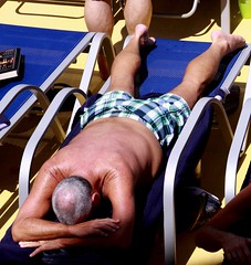 people on cruise pool deck (miosoleegrant2) Tags: ship deck cruise vacation sea pool swim bare chest naked swimsuit swimwear sunning male men hunk muscle masculine pecs torso guy chested buzz armpits hairy nipples abs navel outdoor water swimming sport husky burly strapping brawny people belly