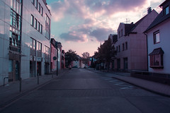 in Troisdorf (Michael Xyrie) Tags: clouds street suburban sunset dusk colors pretty isolated empty nobody summer outside outdoor infrastructure