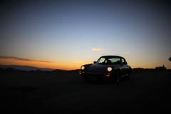 Early Morning Driver (Spebak) Tags: spebak canondslr canon canon70d dslr porsche porsche911 european sunrise morning earlymorning lights clouds mountains emptyroad