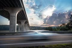 Back and forward through time (Christopher W Gilbert) Tags: fujifilm fuji xseries gfx50s leefilters landscape landscapes longexposure car sunrise blur sunburst