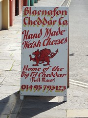 Advertising Board, Broad Street, Blaenavon, Pontypool 29 August 2018 (Cold War Warrior) Tags: dragon cheese blaenavon pontypool advertising