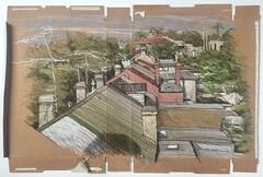 Paddington Rooftops (Peter Rush - drawings) Tags: rooftops cerealbox peterrush drawing sketch urbansketchers australia sydney paddington