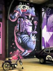STOM 500 (Thethe35400) Tags: artderue arteurbano arturbain arturbà arteurbana calle grafit grafite grafiti graffiti graffitis graff mural murales muralisme plantilla pochoir stencil streetart schablone stampino tag urbanart wall chat crapeau