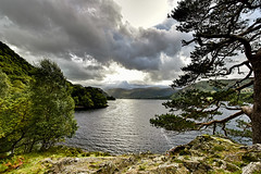 Ullswater, Cumbria, England (vincocamm) Tags: mountain hills green stormy lake ullswater lakedistrict cumbria windy rocks nikon d5500 sunbeam clouds cloudy storm moody