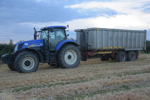 New Holland T7030 Tractor with a Beresford Trailers Grain