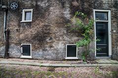House exterior @ Gouda (PaulHoo) Tags: gouda city urban nikon d750 architecture house 2018 wideangle ultrawideangle samyang 14mm exterior vintage wall brick door window hdr