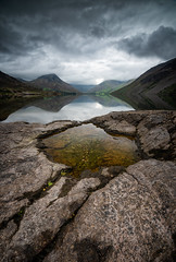crater (akh1981) Tags: beautiful cumbria clouds calm countryside reflections fells hiking nikon uk landscape lakedistrict lake longexposure manfrotto mountains moody morning muted nisi nature nationalpark nisifilters nationalheritage nationaltrust unesco outdoors rocks wastwater tranquil