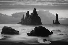 Reynisdrangar (dickiebirdie68) Tags: iceland beach black stacks rocks clouds long exposure nikon d850 reynisdrangar flowing jagged sand sky landscape seascape