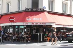 A shot of espresso before the market (jacqueline.p.21) Tags: lezinc ruedesmoines ruelemercier coffee cafe sidewalkcafe sunnysunday sunday espresso beforethemarket afterthemarket breakfast 17eme batignolles france french 17th paris