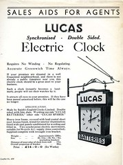 Electric Clock (British Motor Industry Heritage Trust Archive) Tags: bmiht britishmotormuseum lucascollection lucas history vintage archive