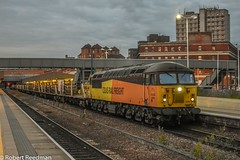 56094 6C78 (47843 Vulcan) Tags: 56094 grid class56 leicester station colas rail 6c78marketharboroughtodoncasterdecoy