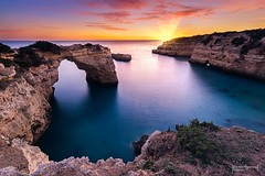 Albandeira in progress (Fernando Guerra Velasco) Tags: albandeira portugal algarve atardecer sunset largaexposición longexpo