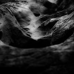 In Canyons 269 (noahbw) Tags: capitolreefnationalpark d5000 dof grandwash nikon utah abstract autumn blackwhite blackandwhite blur bw canyon dark darkness depthoffield desert erosion light lowlight monochrome natural noahbw quiet rock shadow slotcanyon square still stillness stone