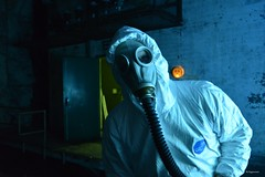 Biohazard Alert (Bo Ragnarsson) Tags: biohazard radiation alert gasmask gp5 chemsuit tyvek dupont fallout stalker quarantine cosplay chernobyl apocalypsedeacadence