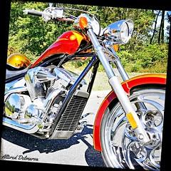 Honda motorcycle custom bike (delmarvausa) Tags: orange motorcycle hondamotorcycles chrome custom orangepaint thecolororange custombike motorcycles custommotorcycle custompaint bike motorcycleart wheel wheels honda hondamotorcycle