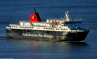 Scotland Greenock arriving at the ship repair dock the car ferry Caledonian Isles 18 September 2018 by Anne MacKay