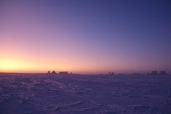 Concordia sunset (europeanspaceagency) Tags: esa europeanspaceagency space universe cosmos spacescience science spacetechnology tech technology humanspaceflight concordia antarctica base research researchstation sunset
