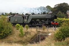Flying Scotsman through Bagillt 3 (BigWingPhoto) Tags: flying scotsman north wales bagillt deside train steam locomotive railway track 60103 express ynys mon lner class a3 4472 pacific nigel gresley gnr flint canon 7d 70200f4l