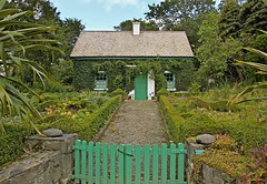 Ivy covered cottage. (carolinejohnston2) Tags: cottage garden plants flora gates donegal ireland nationalpark house home path green trees