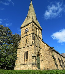 St John the Baptist Parish Church, Alnmouth (Snapshooter46) Tags: stjohnthebaptist parishchurch anglican grade2listed alnmouth northumberland sandstone spire tower clock