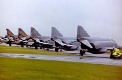 Phantoms at RAF Cottesmore RIAT 2000 (corkspotter / Paul Daly) Tags: 3779 3783 f4f jg71 luftwaffe 71751 f4e 339 mira greek air force 697466 697504 rf4e 113 filo turkish riat 2000 raf cottesmore phantom phantoms negative scan