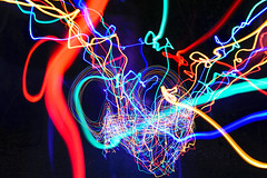 Stringy Accident (stephenk1977 > @stephenk_lightart) Tags: australia queensland qld brisbane accident mistaken string fairy light painting photography art caught abstract trails rgb