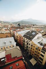 Innsbruck dall'alto color pastello (matteoguidetti) Tags: innsbruck austria buildings colors city urbanphotography urban from top citysight landscape