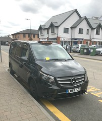 LM67FZU with added Penalty Charge Notice . (AndrewHA's) Tags: bishopsstortford hertfordshire car taxi mercedes benz vito 114 cdi c pact black cab lm67fzu penalty charge notice parking ticket layby